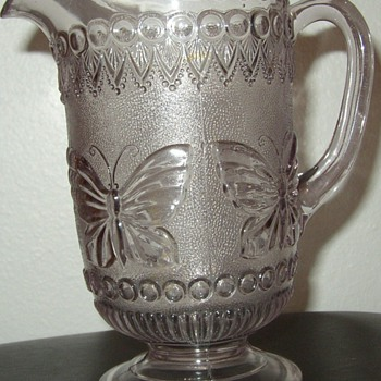 Butterfly Water Pitcher  - Glassware