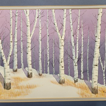 Birch Tree Drawing  - Fine Art