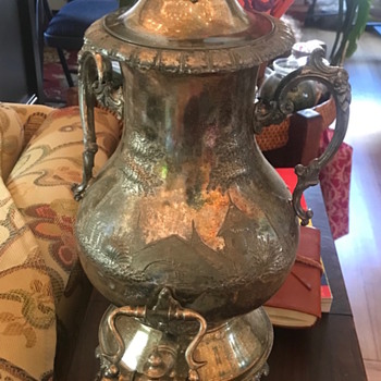 Silver plated coffee urn? - Silver