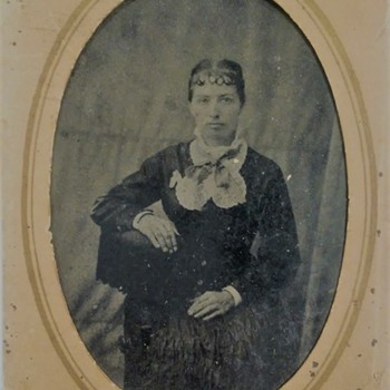 "Late 1800's ""Tin-Type"" Lady's Photographs  - Photographs"