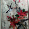 Asian Bird & flower  watercolor on silk cloth?
