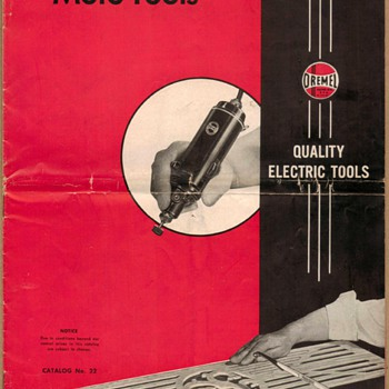 1954 - Dremel Mfg. Co. Moto-Tool Catalog - Paper
