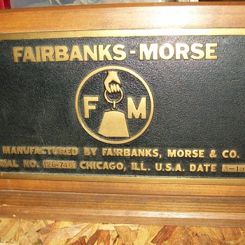 Fairbanks-Morse Builders tag - Railroadiana