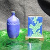 Flea Find For Fun Pottery Vase & Cloisonne Match Box Holder