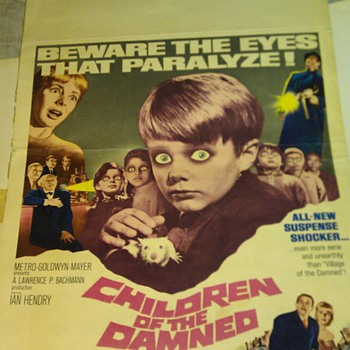 1964 Children of the damned Movie Poster insert - Posters and Prints