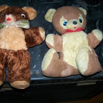 Two Vintage old Stuffed Bears - Dolls