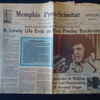 12 PAGES OF ELVIS PRESLEY FROM MEMPHIS TENN.
