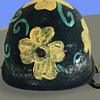 "Vintage 60s California ""Flower Power"" Anti-War Protest Helmet"