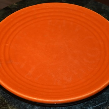 California Pottery Orange Plate - Pottery