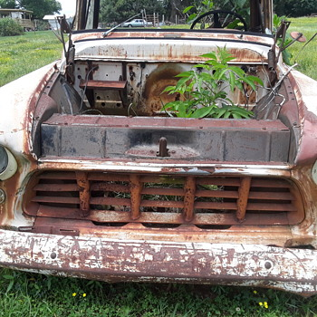 the remains of an old [1956 Chevrolet] pickup truck (#2) - Classic Cars