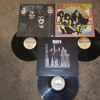 KISS..THEIR FIRST THREE..ONE FROM JAPAN - Music Memorabilia