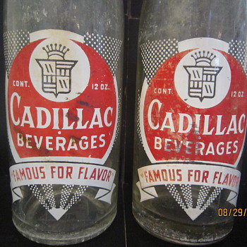 Cadillac Beverages Ginger Ale Co.  Detroit MI 12 Oz. ACL Bottle - Bottles
