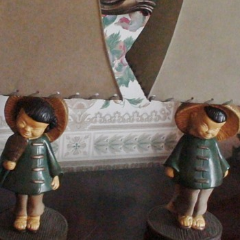 Vintage Chinese Figural Lamps