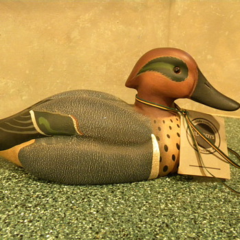 My Green-winged Teal Duck - Folk Art