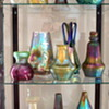 """one of our """"Fancy"""" cabinets, 99% Loetz in this one..."""