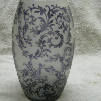 Purple Cameo Vase  - Art Glass