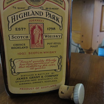 very old Highland Park Scotch Bottle made in scotland - Bottles