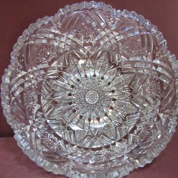 Libby American Brilliant Glass Bowl - Glassware