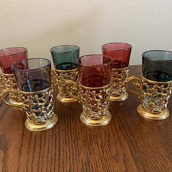 Glasses with holders Made in Italy - Glassware