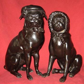 Vintage Mr. & Mrs. Pug - Animals
