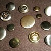 A Variety Of Antique Steel Buttons