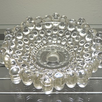 Antique Vintage Glass Crystal Wall Lamp Base Hobnail Boopie Berwick Candlewick Sconce - Lamps