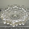 Antique Vintage Glass Crystal Wall Lamp Base Hobnail Boopie Berwick Candlewick Sconce