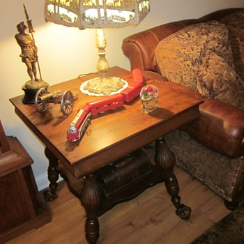 Antique Oak Ball and Claw Feet Tables