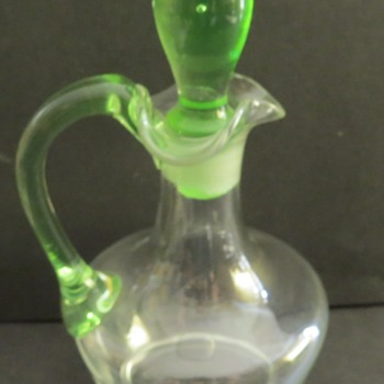 Uranium Glass Cruet with Stopper - Glassware