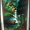 1960s Pagsanjan Falls Phillipines oil on black velvet
