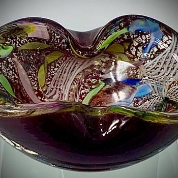 Super Murano Ash Tray  Great Colors. - Art Glass