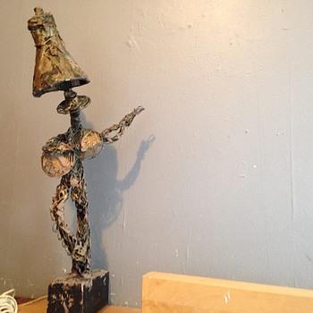 Wire art sculpture lamp