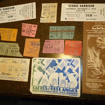 used an unused concert tickets ,handbills