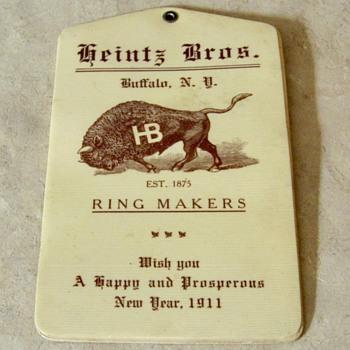 1911 Heintz Bros. Buffalo, NY celluloid advertising note pad - Advertising