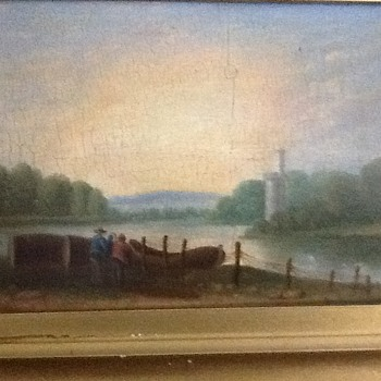 VERY RARE, UNIQUE OIL PAINTINGS ON MAHOGANEY WOOD PANELS.  - Fine Art