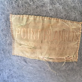 Woodwards / Hudsons Bay Sky Blue Point Blanket   Seems rare! - Rugs and Textiles