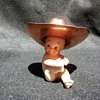 A Little Lefton Kewpie Doll Baby in a Copper Hat Just Because It's Cute!