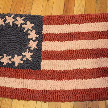 American Flag small Latch Hook Rug - Rugs and Textiles