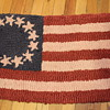 American Flag small Latch Hook Rug