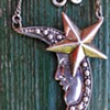 Celestial Moon & Star Sterling Necklace Belgian Flea Market Find 1 EURO/$1.17