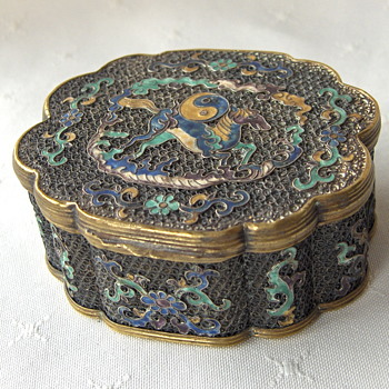 Antique Chinese Filigree Enamel Mixed metal box, unmarked - Asian