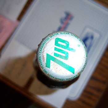 Old Coco Cola bottle with 7UP cap - Coca-Cola