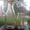 Old Pontiac Dairy Pontiac Michigan PD Co. Embossed Indian Chief One Quart & Half Pint Milk Bottles