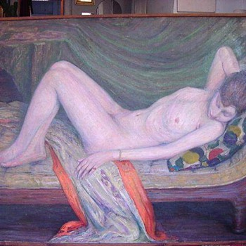 Elisha Kent Kane Wetherill Reclining Nude - Posters and Prints