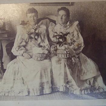 "Boston Herald Advertising:  Women in ""Newspaper"" Dresses - Photographs"