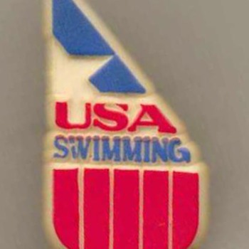 1984 - Olympic USA Swimming Team Pin - Medals Pins and Badges
