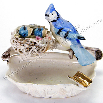 Norleans Porcelain Bluejay Ashtray - Tobacciana