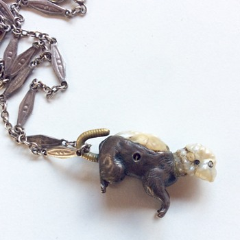 mystery baroque pearl rat pendant - Fine Jewelry