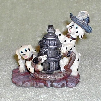 Dalmatians and Fire Hydrant Figurine - Figurines