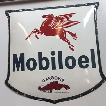 Mobil oil shield from Germany  - Signs